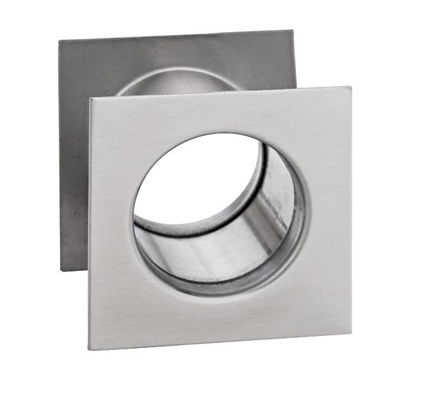 Tuleja WC metalowa kwadrat Nikiel