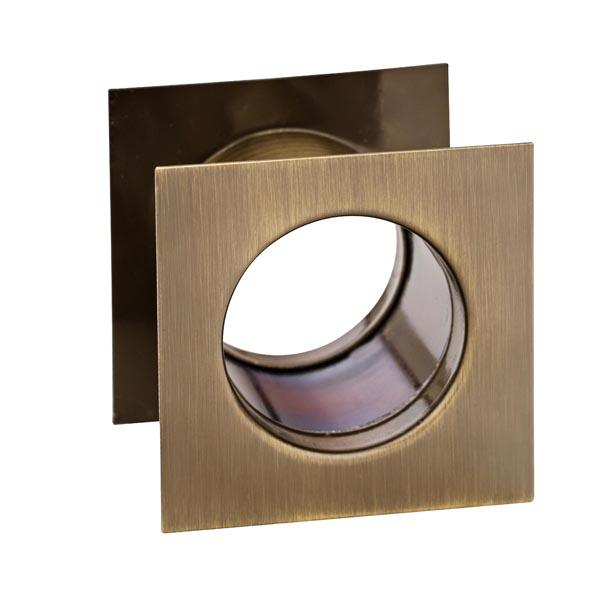 Tuleja WC metalowa kwadrat Patyna